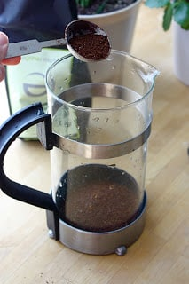 coffee grind in french press